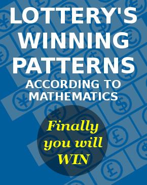 lottery winning patterns according to mathematics by Lottometrix